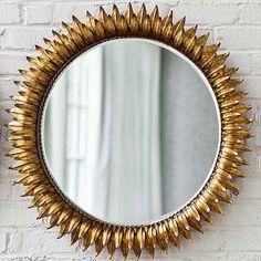 """MBR: round, warm gold, 30"""" sunflower Regina Andrew Decor Sun Antique Gold Round Mirror RA405049GC"""