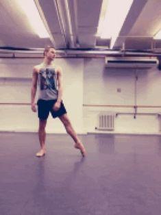 "raisingthe-barre: "" "" sophiefloats: "" (Taken with Cinemagram) "" someone get me one of him. Male Ballet Dancers, Ballet Boys, Tap Dance, Dance Art, Flexibility Dance, Contortion, Street Dance, Dance Choreography, Dance Fashion"