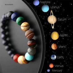 Chakra Armband, Bracelet Chakra, Chakra Bracelet Meaning, Natural Crystals, Stones And Crystals, Natural Stones, Natural Stone Jewelry, Galaxy Solar System, Bracelets For Men