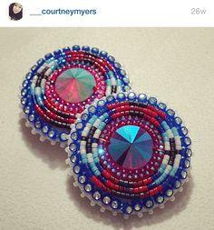 Earrings Seed Bead Earrings, Round Earrings, Beaded Earrings, Earrings Handmade, Native Beadwork, Native American Beadwork, Native American Jewelry, Bead Sewing, Beading Techniques
