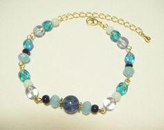 Light blue bracelet beaded bracelet jewelry for by Coloramelody