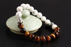white and coffee yoga bracelet bangle