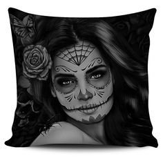 Calavera Girl Tattoo Art Pillowcases