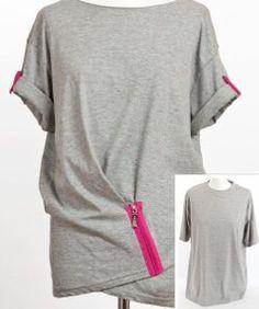 Tshirt mit Reißverschluss