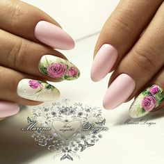 60 Spring Floral Nail Art Design and Ideas Colors