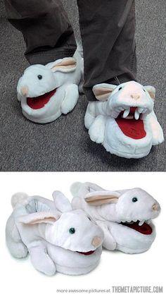 Monty Python Killer Rabbit Slippers…