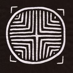 Rare Black and White Traditional Kuna Indian Symbol by molamama, $16.75