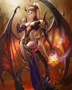 Ziva , by Yan Can , Card illustration for Reign of Dragons , Lore http://reignofdragons.wikia.com/wiki/Ziva
