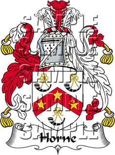 Horne Family Crest apparel, Horne Coat of Arms gifts