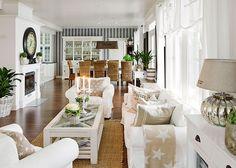 Suomen kauneimpia koteja - Kannustalo Beach Living Room, Home Living Room, Living Area, Interior Decorating, Interior Design, Living Styles, Scandinavian Home, Home Fashion, Home Decor Inspiration