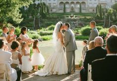 Fairytale-like outdoor ceremony. Photo by Candi Coffman Photography. #wedding #altar