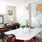 Our homeschool room is one of my favorite spaces in our house, so I thought I'd kick offmy series of homeschooling postswith a tour of the room where the magic happens. Above is the view of our homeschool classroom when you're standing in the doorway, looking in and toward the right. That one small window …