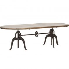 Double Crank Oval Dining Table at High Fashion Home