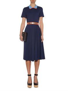 Roksanda Mabyn contrast-collar dress