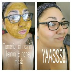 DIY face mask!! It left my skin smooth and glowing!!