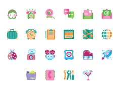 Kawaii Icon Sets by Stefania Pizzichi