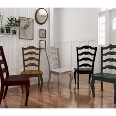Eleanor French Ladder Back Wood Dining Chair (Set Of 2) By Tribecca Home  (Antique White Finish Chairs), Ivory Cream (Rubberwood)