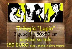 """Quadro Lupin, Margot e Jighen, """"Trilogy"""""""