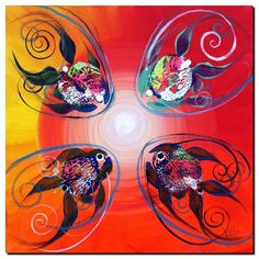 Fish Zapper  Modern Abstract Fish Art Artwork Paintings J Vincent Scarpace