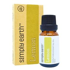 Lemon Essential Oil by Simply Earth  15 ml 100 Pure Therapeutic Grade ** Check this awesome product by going to the link at the image.