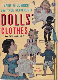 50s / 60s Dolls Clothes Patterns Vintage by allthepreciousthings