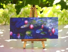 Claude Monet - Table Canvas on Easel by #ForMomentsinTime on Etsy