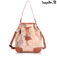 Multi purpose world map design bags for jillians entertainment 2016 stars war message fashion high quality woman handbag shoulder bag messenger bag crossbody barrel shaped world map in pvc gumiabroncs Choice Image