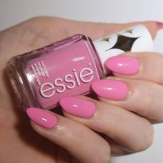 Essie 'Chastity' from the Retro Revival 2017 collection. Bubblegum pink nails are always a winner!
