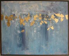 Lift. Abstract painting. Mixed media: acrylic and gold leaf on canvas. 16x20 Olivia A. Myers. Sold, but contact for commissions. http://www. Omyersart.com