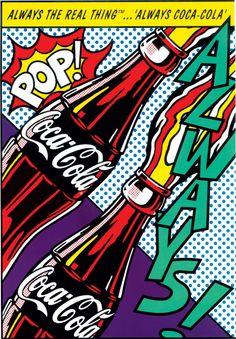 New Pop Art Retro Design Andy Warhol Ideas Roy Lichtenstein Pop Art, Arte Pop, Art And Illustration, Art Andy Warhol, Pop Art Food, The Velvet Underground, Coca Cola Poster, Comic Style, Always Coca Cola