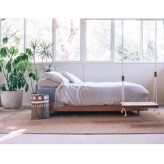 """""""Pop and Scott swing 🍃 pot 🌿stumpie and bed 🌿 photo by Interior Styling, Interior Decorating, Pop And Scott, Bed Photos, Sweet Home, Bedroom Decor, Couch, Storage, Furniture"""