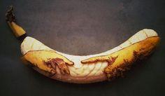 """Fruit Doodles"" – Artist Stephan Brusche Transforms Bananas Into Creative Art"