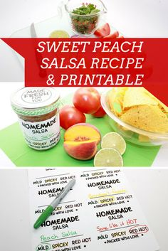 Peach salsa recipe and craft for a delicious summer snack.