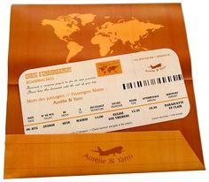 Faire-part et pochette assortie Orange à partir de 3.39 €