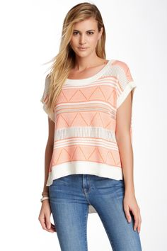 BCBGeneration | Knit Short Sleeve Sweater | HauteLook