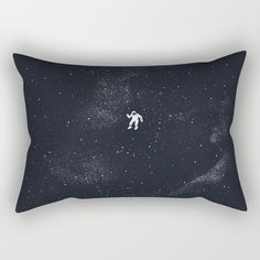 Gravity - Dark Blue Rectangular Pillow by Tobe Fonseca. Worldwide shipping available at Society6.com. Just one of millions of high quality products available.