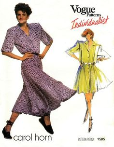Vogue 1505 Free Spirited Dress or Jumpsuit 1980's