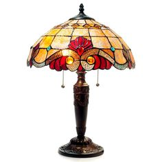 Purchase CHLOE Lighting SHELLY Tiffany-style 2 Light Victorian Table Lamp Shade from Benzara Inc on OpenSky. Brown Table Lamps, Table Lamp Shades, Light Table, Tiffany Style Table Lamps, Tiffany Lamps, Victorian Table Lamps, Lampe Art Deco, Couleur Fuchsia, Lamps For Sale