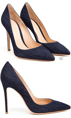 Gianvito Rossi ● Blue Denim Pumps