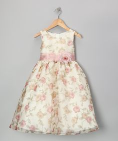Vintage Rose Floral Organza Dress - Toddler & Girls | Daily deals for moms, babies and kids