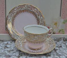 Royal Stafford Tea Trio  Tea Cup Saucer Tea by ImagineHowCharming
