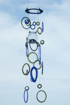 wind chime made from recycled bottles