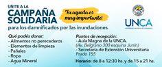 La #UNCA recolectará donaciones para los afectados por las #inundaciones en #Catamarca.