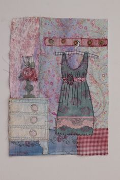 https://flic.kr/p/bF7hXi | Summer Dress | Painted fabric, free motion stitched. Made on a course with Priscilla Jones at Harrogate Embroiderers Guild. A great way to recycle old fabrics (Explore )