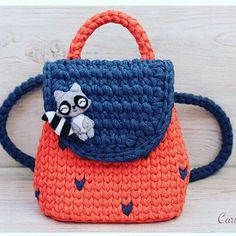 Knitting for beginners kids yarns 48 Ideas for 2019 Crochet Backpack Pattern, Crochet Clutch, Crochet Handbags, Crochet Purses, Cute Crochet, Crochet For Kids, Crochet Baby, Knit Crochet, Hand Crochet