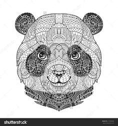 Картинки по запросу панда мандала