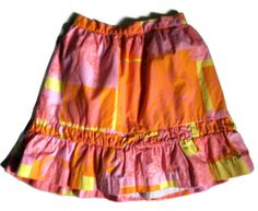 Lilly Pulitzer Girls Jubilee Lined Skirt  Size 8 Pink Orange Yellow Elephant  #LillyPulitzer #Everyday