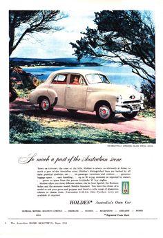 Holden Australia, Adelaide South Australia, Australian Vintage, Australian Cars, Bus Engine, General Motors, Vintage Advertisements, Art Cars, Vintage Posters