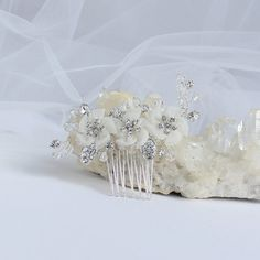 EMILY  BRIDAL HAIR COMB, petite, dainty and so pretty when a delicate feminine touch is all you need
