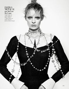 Chanel Couture : Stef van der Laan by Sharif Hamza for Vogue Spain March 2013